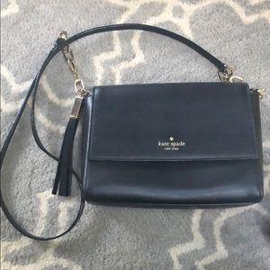 Kate Spade black leather shoulder bag/clutch